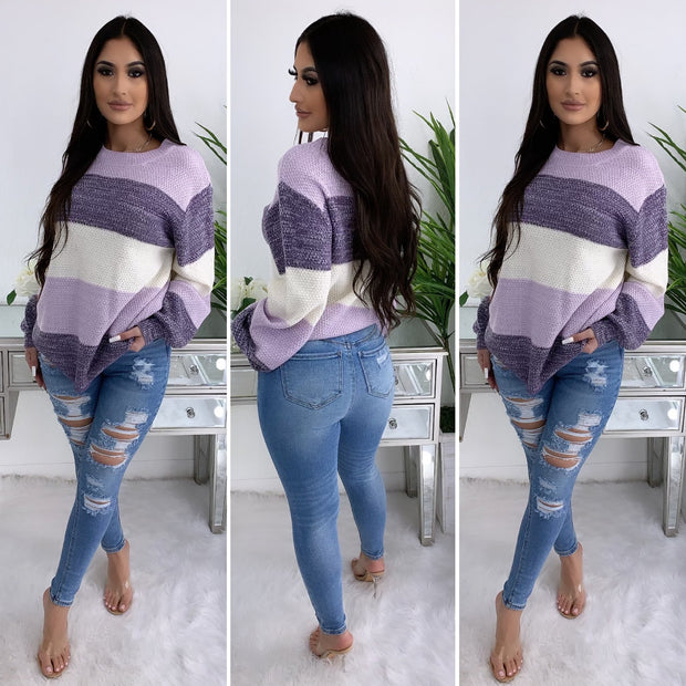 That's Just Half Sweater (Lavender)