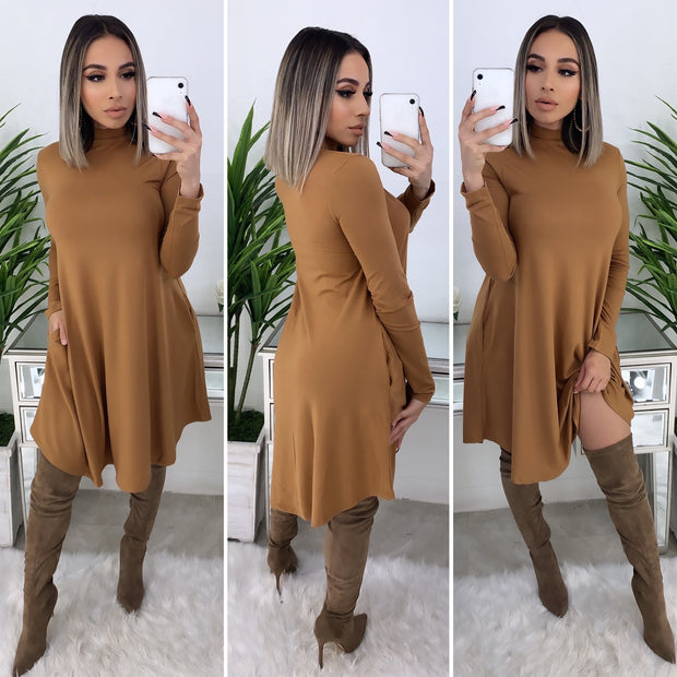 No Denying It Dress (Dark Mustard)