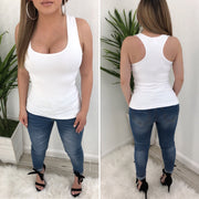 Desi O/S Tank Top (White)