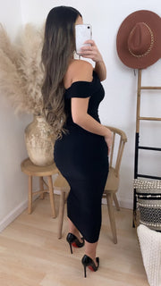 Impeccable Couture Midi Dress (Black)