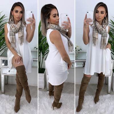 Farrah Tunic Dress/Top (Ivory)