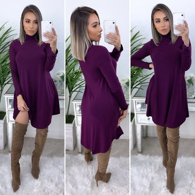 No Denying It Dress (Dark Plum)