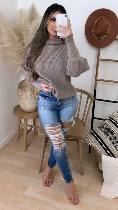 Never To Comfortable Sweater (Khaki)