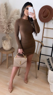 Snatched Couture Dress (Mocha)