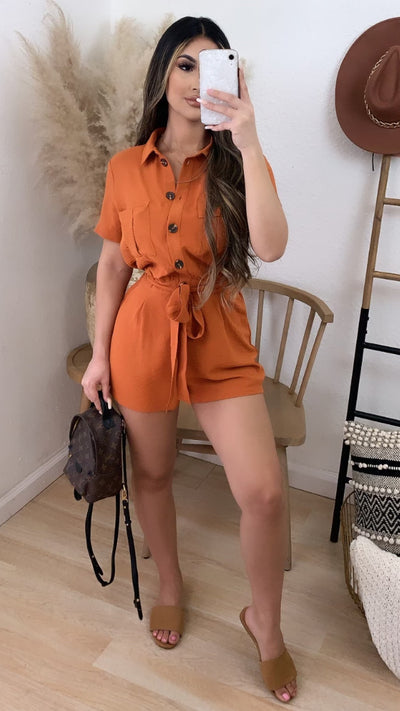 Always Ready Romper (Rust)