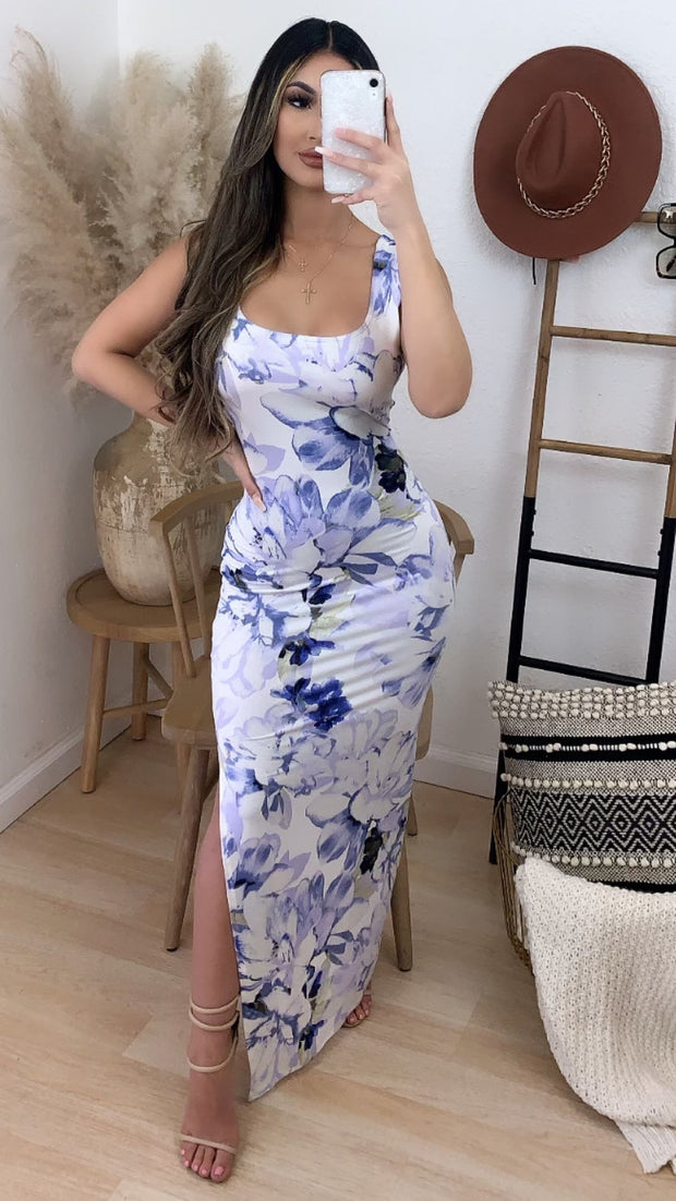 St. Barts Maxi Dress (Blue)