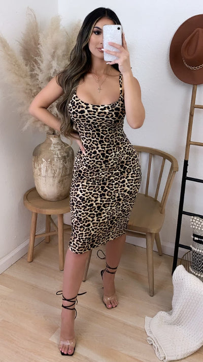Couture Leopard Midi Dress