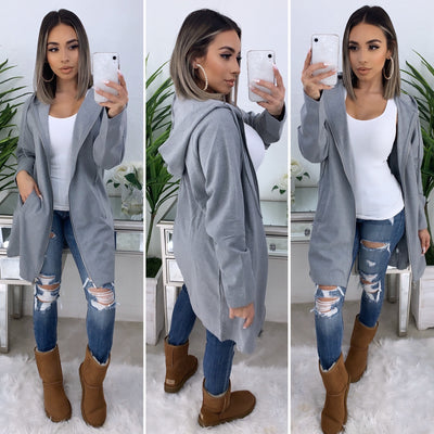 Cold Winter Zip Up Sweater (Heather Grey)