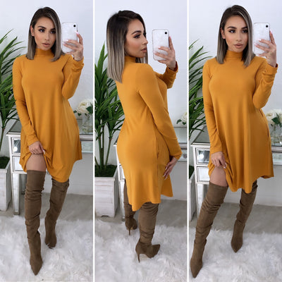 No Denying It Dress (Mustard)