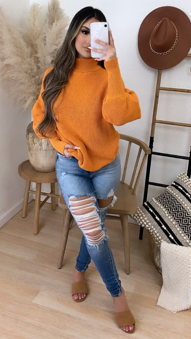 Never To Comfortable Sweater (Mustard)