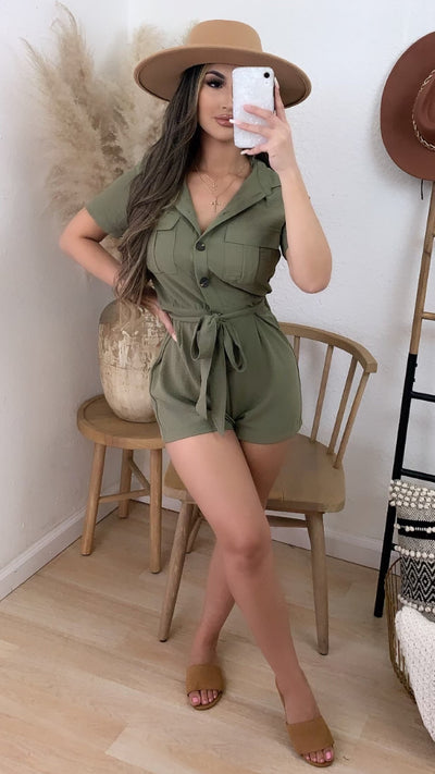 Always Ready Romper (Olive)