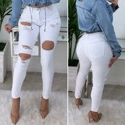 Ride For Me High Waist Jeans (White)