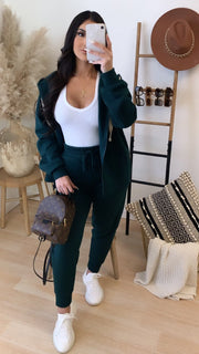 At Home 2PC Set (Hunter Green)