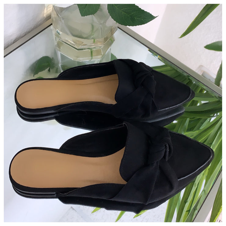 Maribel Slip In Flats (Black)