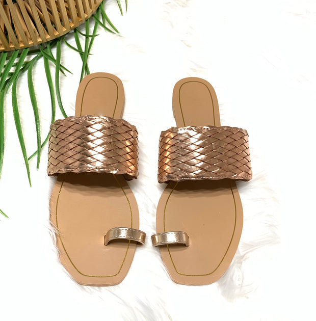 Fiji Sandals (Rose Gold)