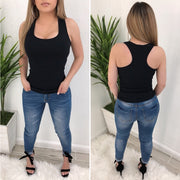Desi O/S Tank Top (Black)