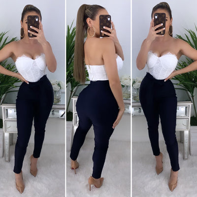 Feeling Extra High Waist Pants (Navy)