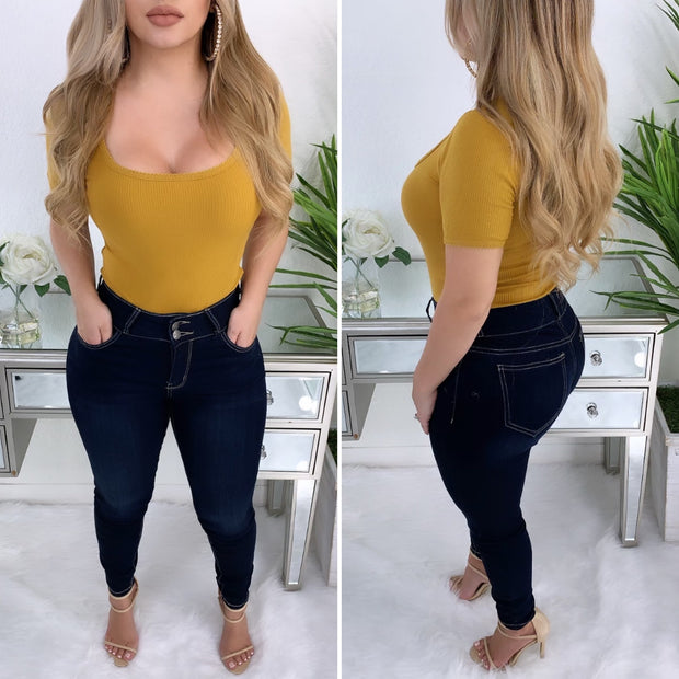 Major Essential Bodysuit (Mustard)