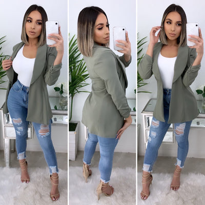 Business Talk Boyfriend Blazer (Sage)