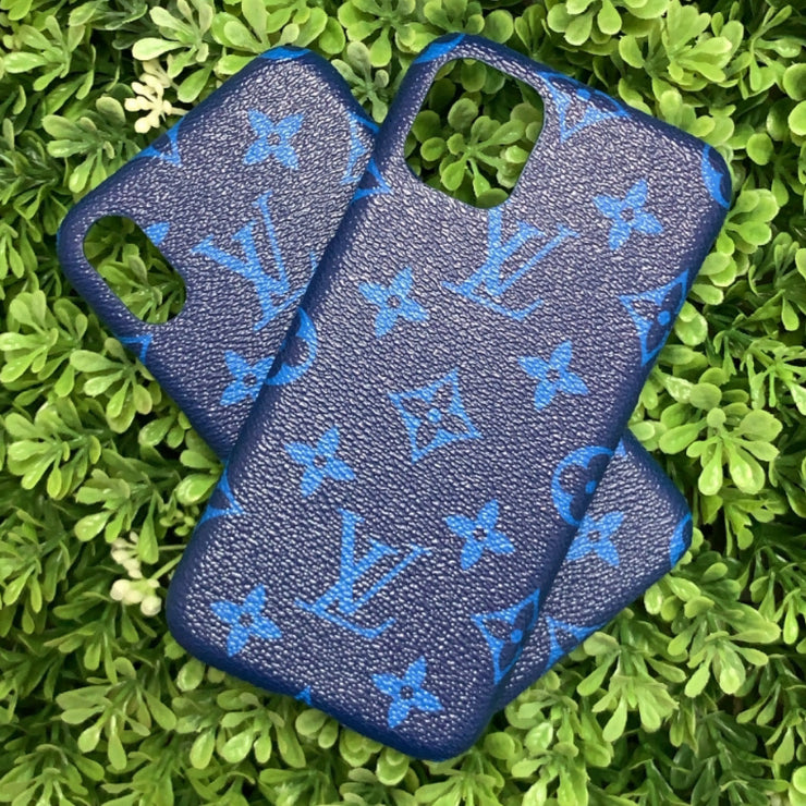 LV Designer IPhone Case (Blue)