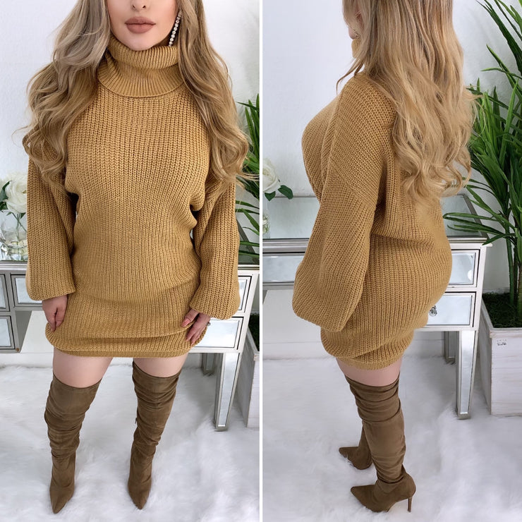 Sprung Over You Dress (Tan)