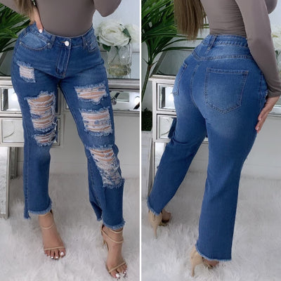 Gianno Super High Rise Jeans (Med. Denim)