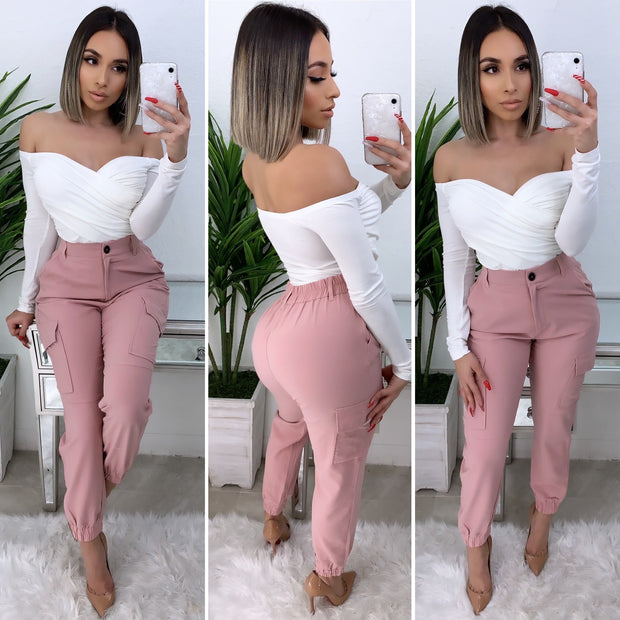Always In Motion High Waist Pants (Blush)