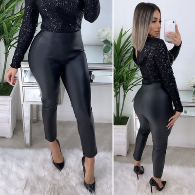 We Can Make It Work Couture Leather Leggings