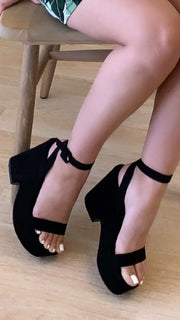 Marisol Chunky Wedge (Black)