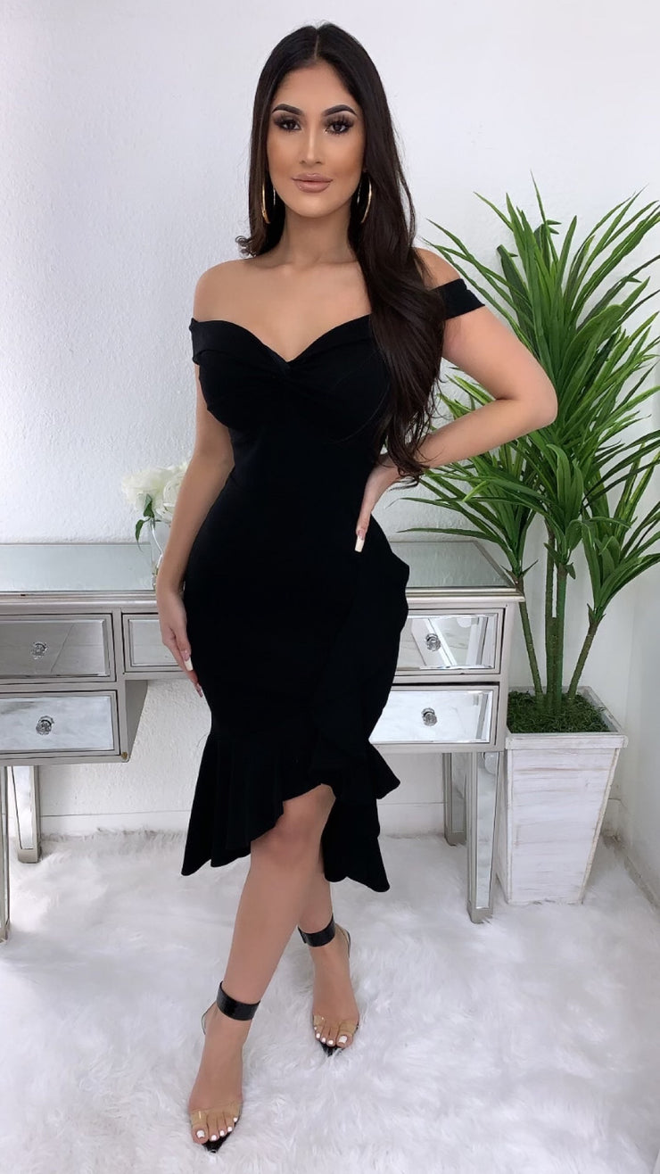 Close To Perfect Couture Dress (Black)