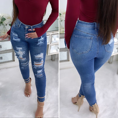 Expose You Vintage High Waist Jeans (Medium Wash)