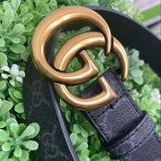 GUCCI Inspired GG PRINT Belt (Black/Grey)