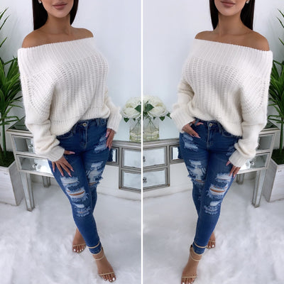 Social Fall Sweater (Ivory)