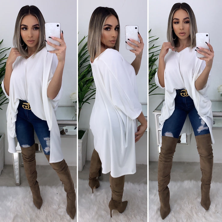 Either Way Top/Dress (White)