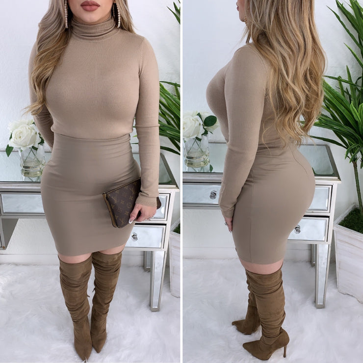 Sultry Couture Skirt (Mocha)