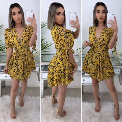 Temecula Couture Dress (Mustard)