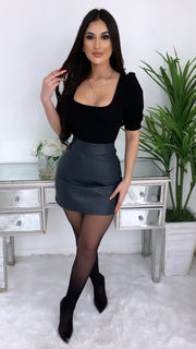 Risk Taker Faux Leather Skirt