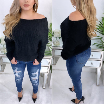 Social Fall Sweater (Black)