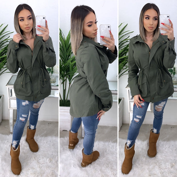 Bold Move Cargo Jacket (Olive)