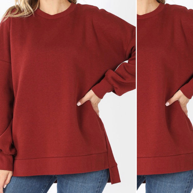 Out All Day Oversize Sweater (Brick)