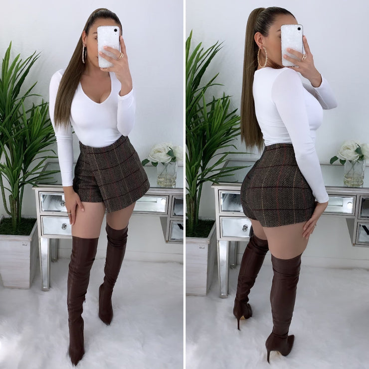 Brooke Couture Skort (Brown)