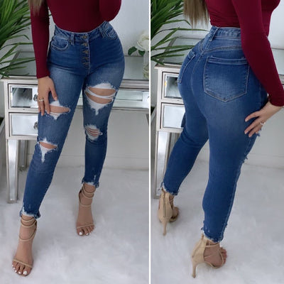 All For You High Rise Jeans (Medium Denim)
