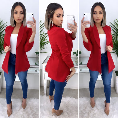 Business Talk Boyfriend Blazer (Red)
