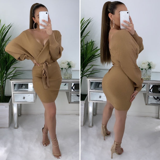 Come Closer Couture Dress (Dusty Mustard)