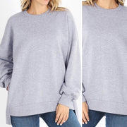 Out All Day Oversize Sweater (Heather Grey)