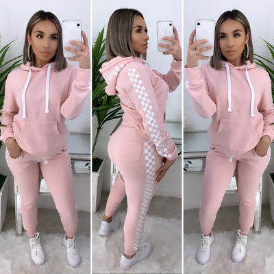 Street Vibez 2PC Checkered Set (Blush)