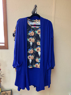 Royal Blue Duster