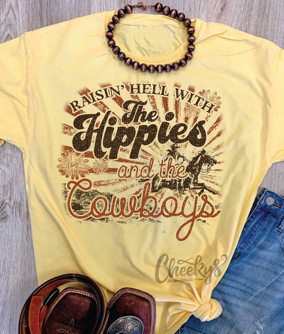 Raisin hell with the hippies and the cowboys.