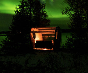 Sleep under the sky in magical skynest in Swedish Lapland and have a chance to see the Northern lights/aurora borealis. Experience luxury holiday in Sweden.