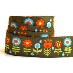 Jessica Jones Ribbon - Brown Funky Flowers